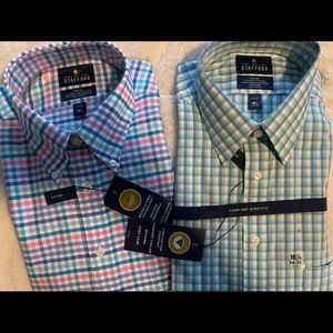 Two Stanford Long Sleeve Button Shirts